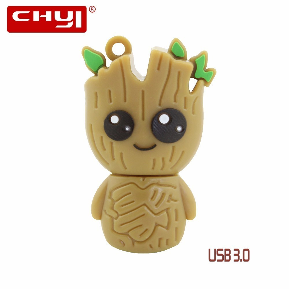 CHYI Cute Cartoon Monster USB 3.0 Flash Drive 8GB 16GB 32GB 64GB Pen Driver Lovely Pendrive Memory Stick U Disk For Gift cute cartoon tomato doll usb flash drive red green 8gb