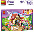 Free shipping Bela 10163 Girl's Friends Maya Heartlake Stables Building Blocks Sets 400pcs Bricks