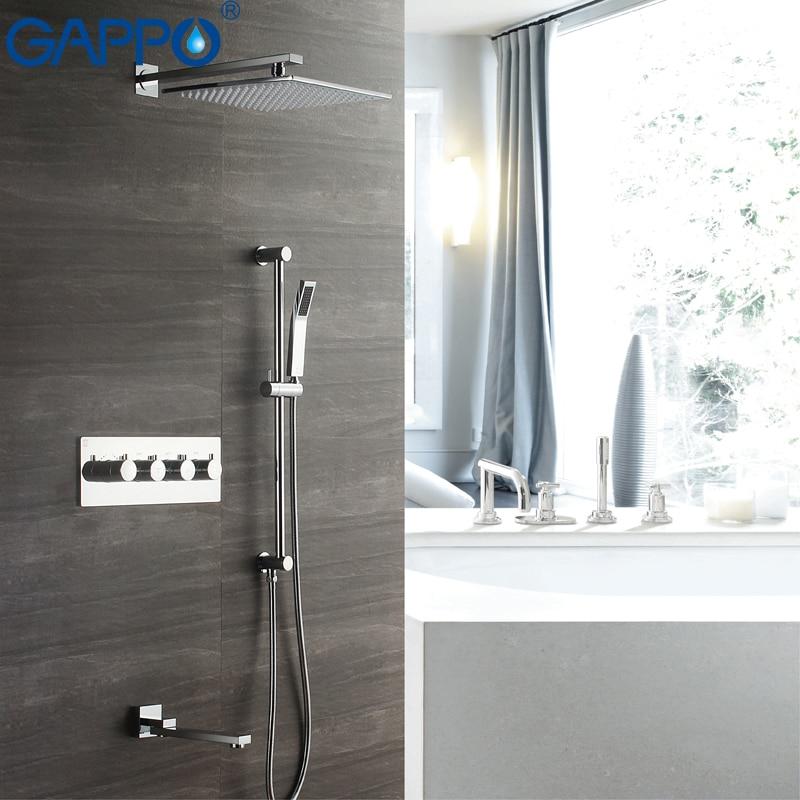 GAPPO Rubinetti Doccia Incasso termostato miscelatore bagno rubinetto cascata rubinetti doccia a pioggia set miscelatori rubinetto per doccia