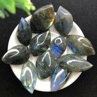 11 Pieces Natural Beautiful Labradorite Slice Gemstone Slice Pendant Crafts DIY