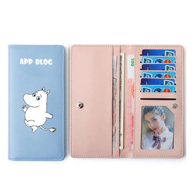 US $4 74 5% OFF|APP BLOG Cute Cartoon Hippo Women Mini Long Wallet For  Teenager Girl Kid Boy Hasp Multifunction Clutch Small Purse Card Holder-in