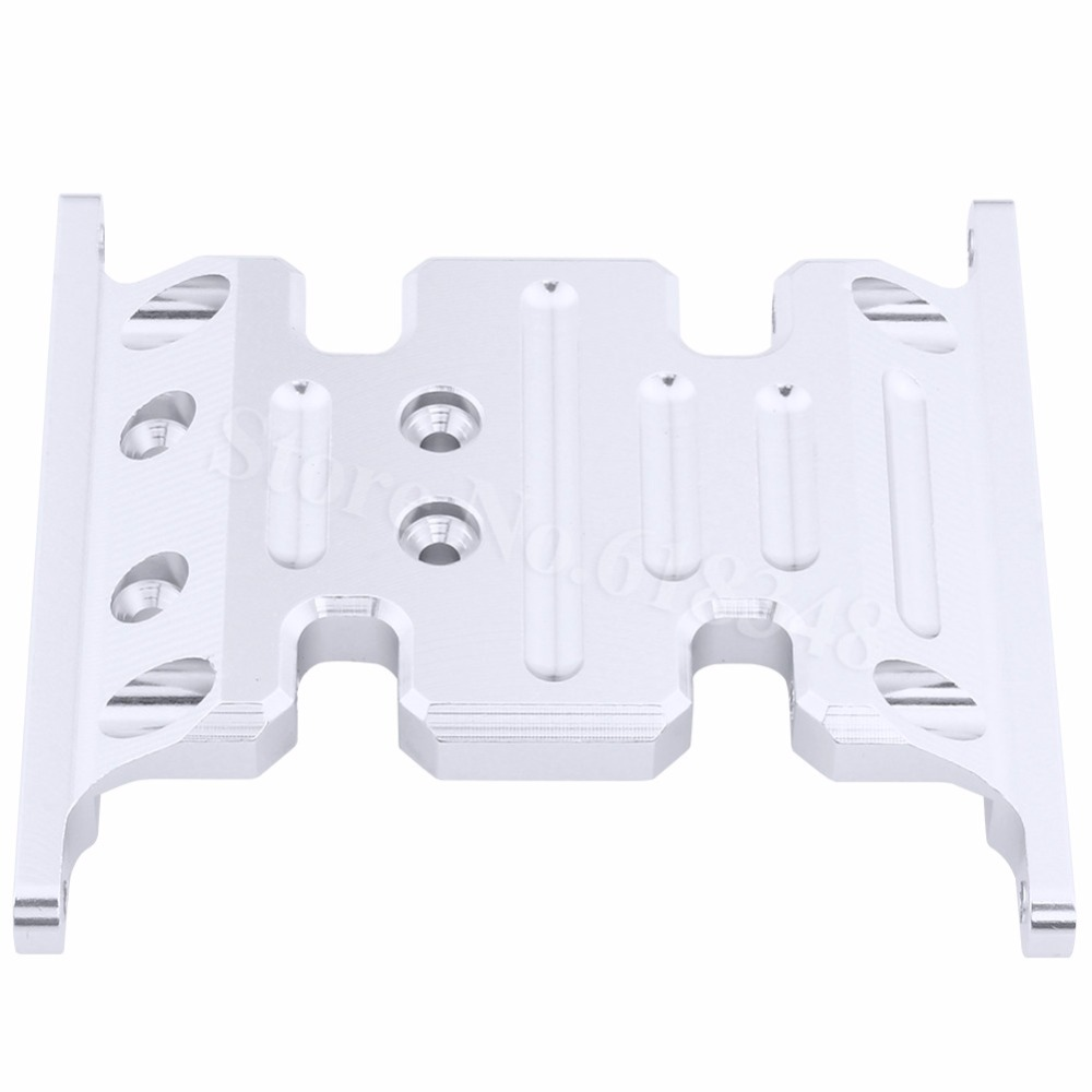 все цены на Metal Aluminum Center Skid Plate For Axial SCX10 Rock Crawler 1:10 RC Car Parts Hop Up Replacement онлайн