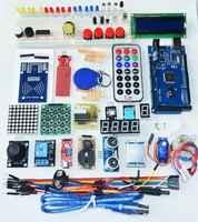 Free shipping mega 2560 r3 starter kit motor servo RFID Ultrasonic Ranging relay LCD