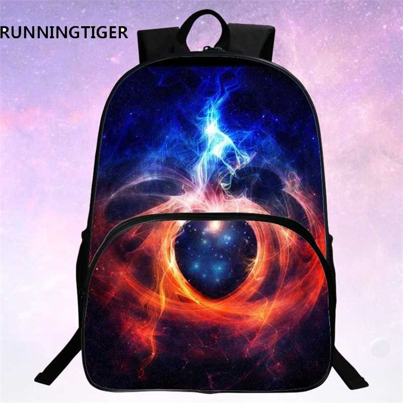 RUNNINGTIGER Children School Bags Galaxy Universe Space 24 Colors Printing Backpack For Teeange Girls Boys Star Schoolbags in School Bags from Luggage Bags