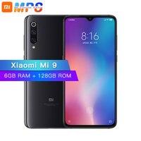 Xiaomi mi 9 mi 9 128 GB Встроенная память 6 ГБ оперативной памяти, мобильный телефон Snapdragon 855 Octa Core 6,39 48MP тройной Камера в Дисплей отпечатков пальцев NFC