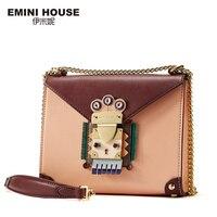 EMINI HOUSE Indian Style Flap Bag Original Chain Bag Split Leather Women Messenger Bags Crossbody Bags