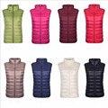 Новый 2016 осенью и зимой женщины жилет вниз 90% белая утка вниз мягкий теплый жилет плюс размер 3XL женский пиджаки марка жилет пальто