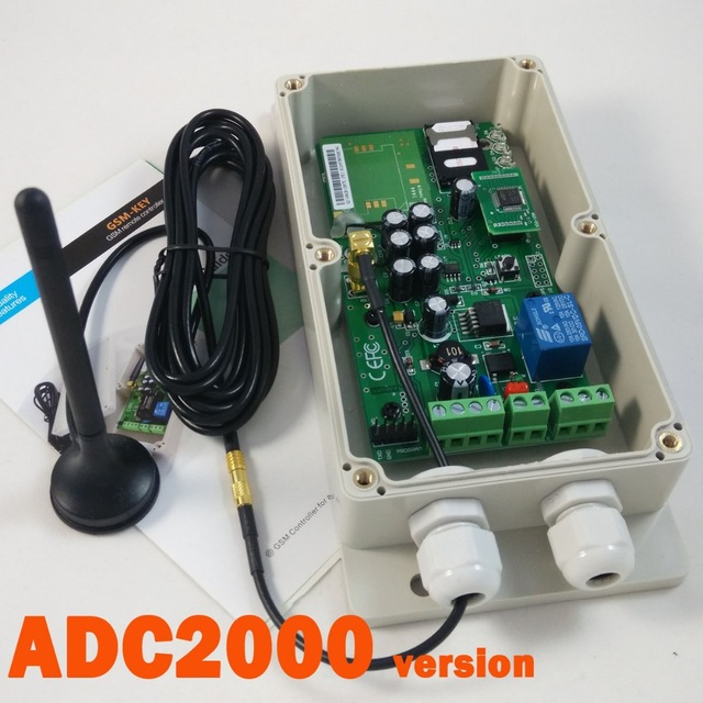 GSM-KEY-ADC2000 Free shipping GSM access controller for automatic door and electric gate opener maryam ahmed automatic taxi trip sensing and indicating system though gsm