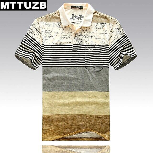 Новый MTTUZB мужская мода полосы polo рубашка костюм мужчин случайные летом с коротким рукавом футболки мужской топы человек тис одежда M-XXXL