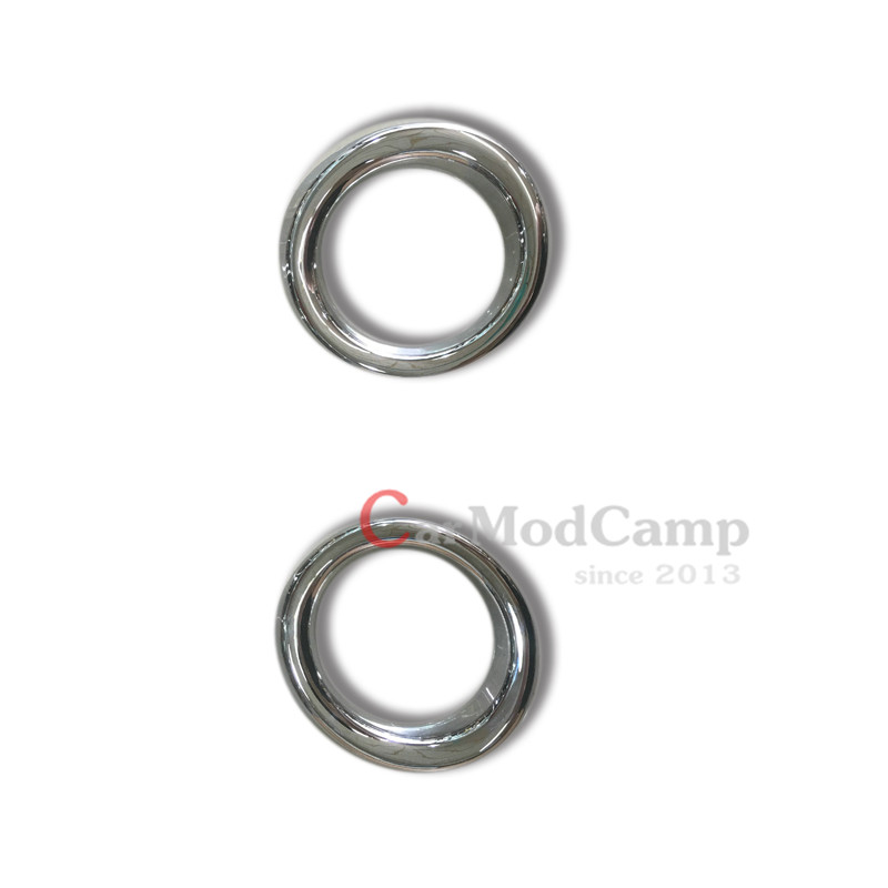 2pcs Chrome ABS Front Fog Light Lamp Ring Cover Surround