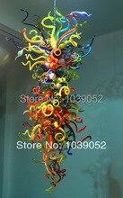 Multi Color Crystal Chandelier Bobeche Art Glass Light