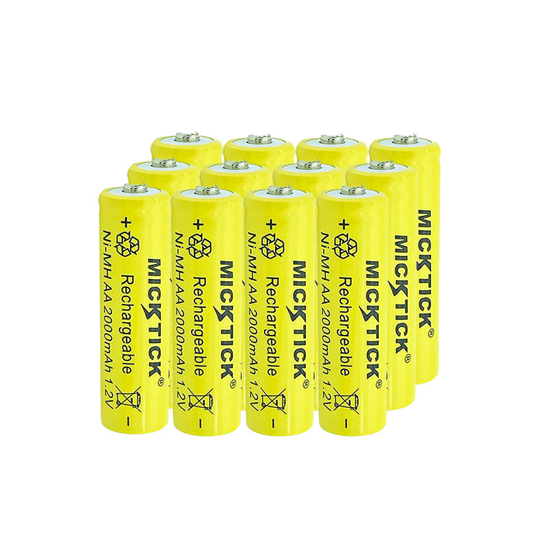 12Pcs 1.2V AA 5# 2A 2000mAh NI-MH Battery battiries batteria Rechargeable Low self Battery Capacity camera,toys free shipping