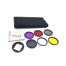 for Go pro Hero 3+ 4 52mm Filter Lens Set UV CPL ND4 Color Filter Bag Adapter Mount Wrench for Gorpo Action Camera GP277