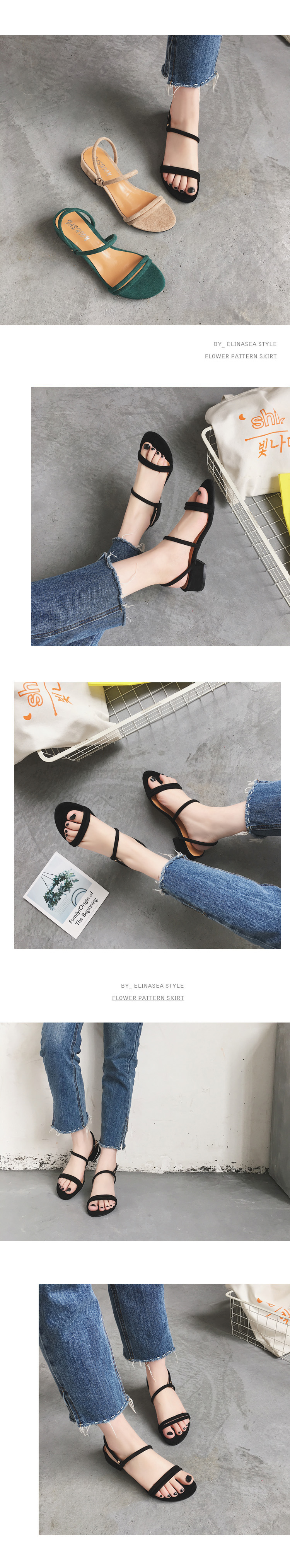 HTB1F0g OpYqK1RjSZLeq6zXppXa3 new Flat outdoor slippers Sandals foot ring straps Roman sandals low slope with women's shoes low heel shoes Sandals mujer