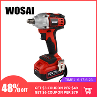 WOSAI 20V Lithium Battery Brushless Impact Electric Wrench Max Torque 320N.m 4.0AH Cordless Socket Wrench Power Tools