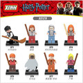 8 unids/lote Xinh 0129 Amigos de Harry Potter Ron Weasley Hermione Jean Granger Lord Voldemort figuras Building Blocks Juguetes X0129