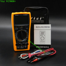 LCD display digital Multimeter Electrical Meter Inductance Res Cap Freq Temp AC/DC Ohmmeter Inductance Tester Vici VC9808+