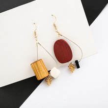New Fashion Interesting Creative Female Wood Drop Earrings Personality For Women Korea Pine Cone Design Ear Jewelry