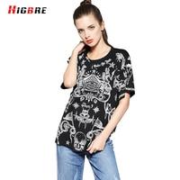 HIGBRE Basic Gothic T Shirt Women Plus Size Summer 2017 Best Friend Tees Fashion Print Tshirts