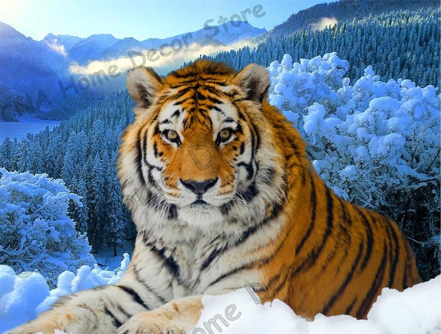 Tiger taladro completo Mosaico 5D Diy Diamond Bordado Pintura Resina - Artes, artesanía y costura - foto 2