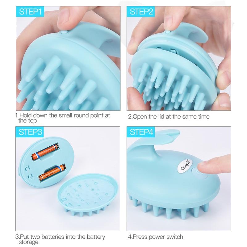 цена Electric Hair Growth Massage Shampoo Brush Hair Scalp Massage Brush Shower Hair Washing Comb Head Scalp Massager Anti Hair Loss