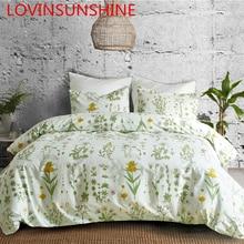 LOVINSUNSHINE Juego de cama de edredón con estampado floral, colcha confortable con estampado de flores, AI01