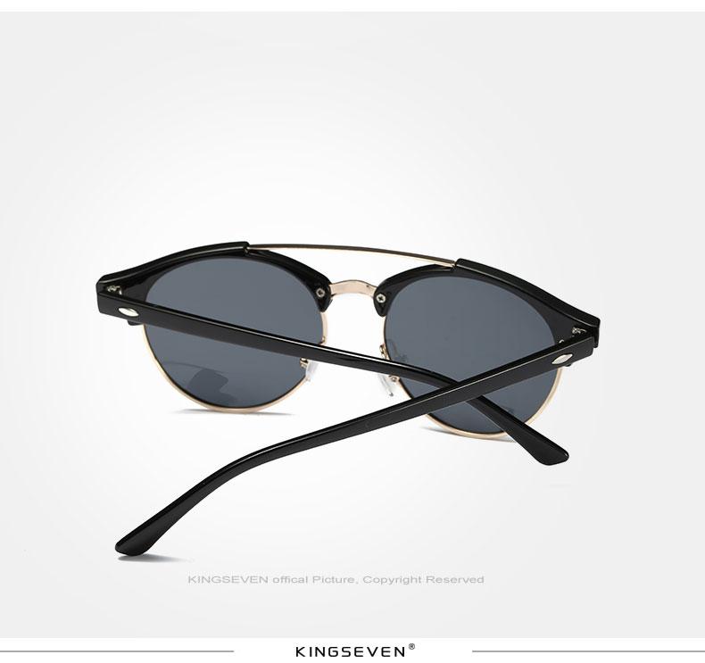 17 KINGSEVEN Retro Rivet Polarized Sunglasses Women Classic Brand Designer Sun glasses Eyewear Bridge Frame Oculos Gafas N7346 6