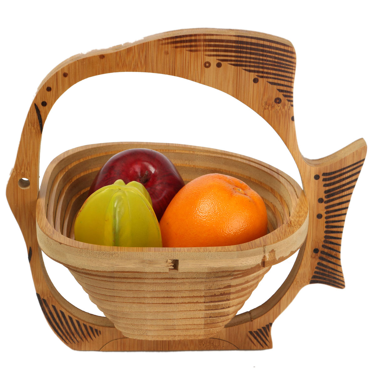 Wooden Folding Fish Shape Wooden Fruit Basket Retro Compote Craft Storage  Board Baskets Holder Home Kitchen Gift Decor Portable-in Storage Baskets  from Home ...