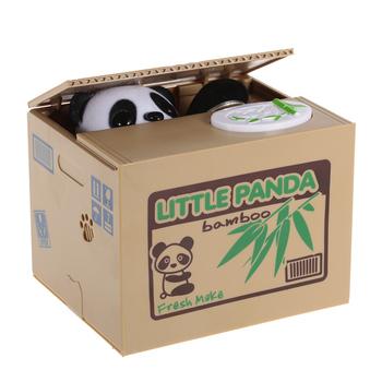 Panda kot złodziej skarbonka zabawka skarbonka skarbonka automatyczna moneta skarbonka skarbonka dla dzieci prezent urodzinowy tanie i dobre opinie Tooarts money boxes