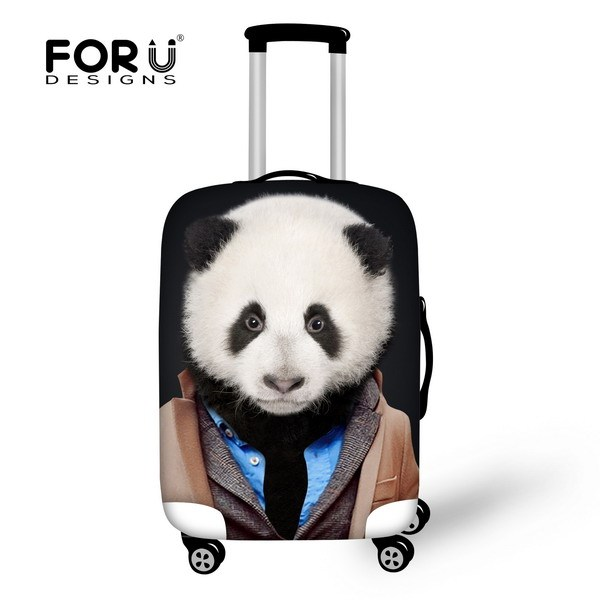 Brand Panda Tiger Men's Luggage Set 3D Animals Boys Men Waterproof Spandex Elastic Cover To Suitcase For 18''-30''inch Cartoon