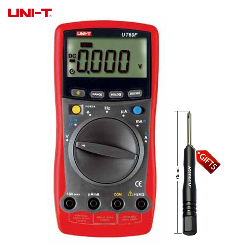UNI-T UT60F LCD Handheld AC DC Digital Multimeter with Max. Display 3999 UT-60F  uni t ut90c ut 90c low price best multimeter digital with lcd display
