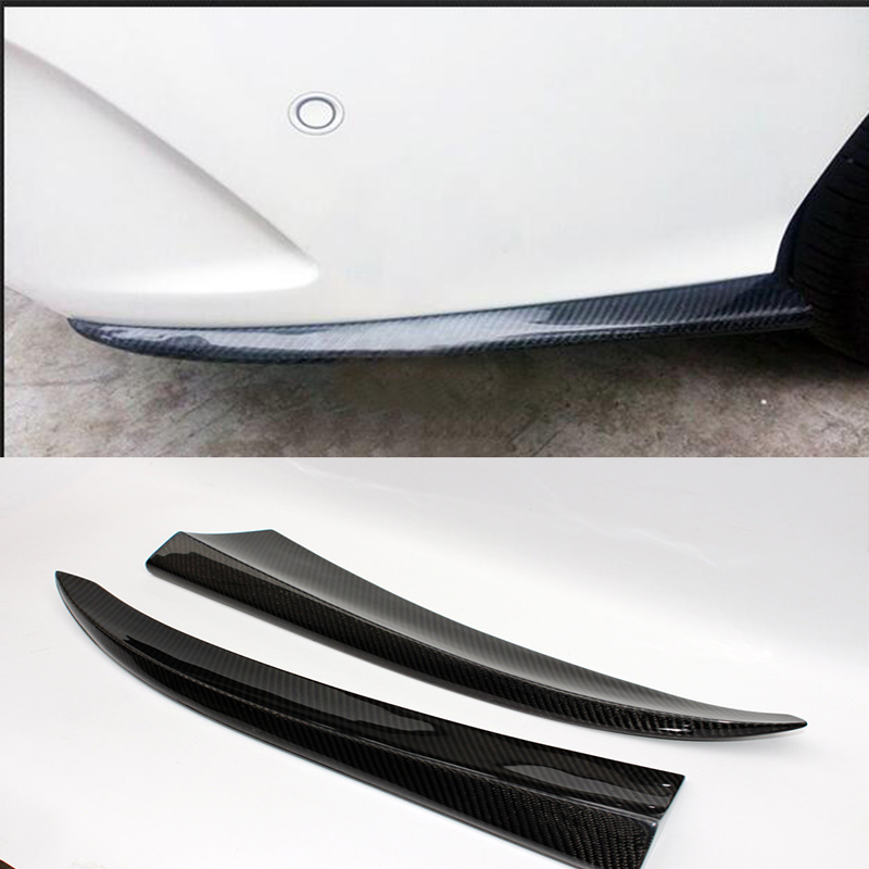 W205 Carbon Fiber Car Rear Body Kit Splitter Trim for Mercedes Benz W205 4Door 2015UP yandex mercedes x156 bumper canards carbon fiber splitter lip for benz gla class x156 with amg package 2015 present