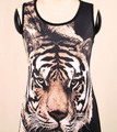 2017 new fashion Summer Tiger Animal Printing Chiffon Camisole Sleeveless tops