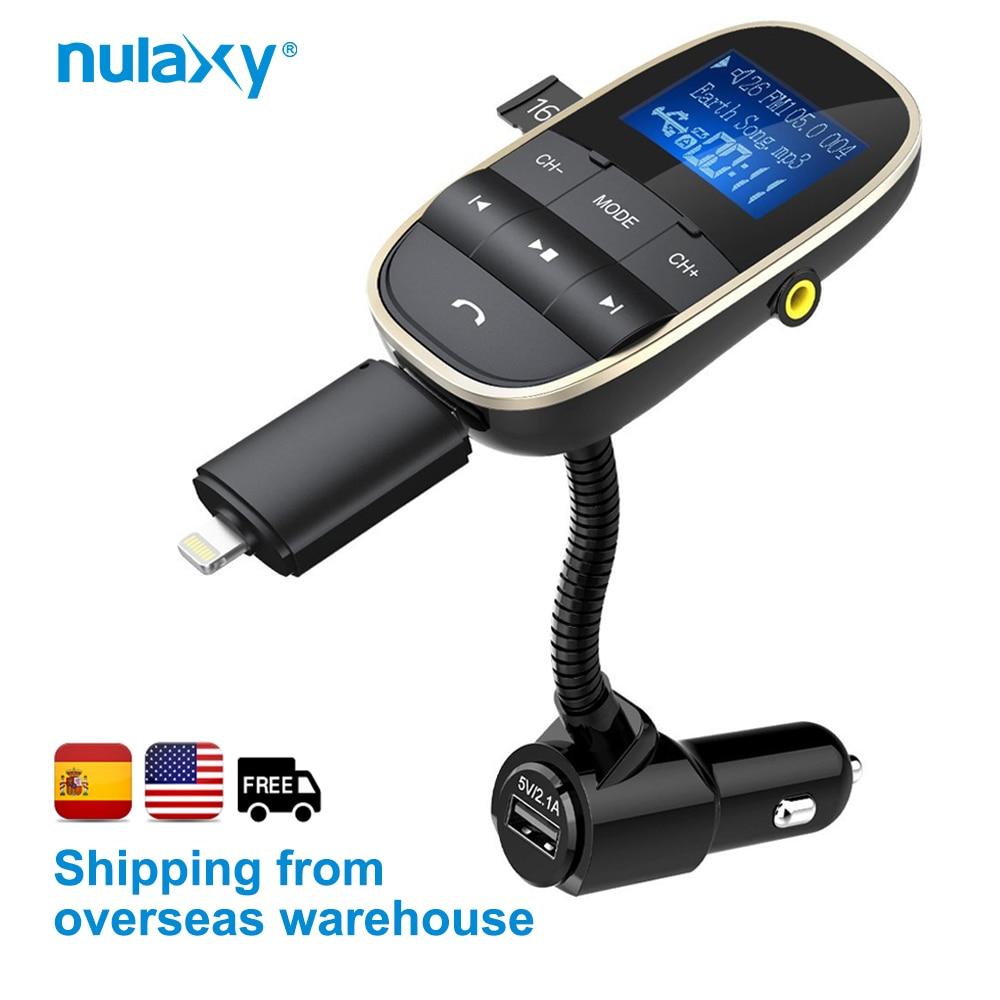 Nulaxy auto MP3 atskaņotāji Bezvadu FM raidītājs Bluetooth FM modulators Auto komplekta atbalsts U Disk TF karte ar divkāršu USB automašīnas lādētāju