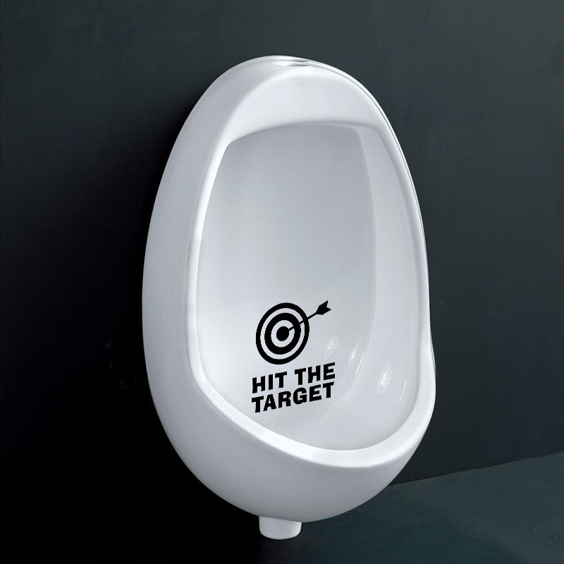HonC Creative Hit The Target Toilet Stickers Home Decoration Wall Decals  Mural Art Poster Vinyl Diy