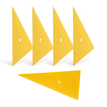 лучшая цена 5Pcs Professional Window Tint Tool Triangle Film Scraper Car Vinyl Applicator Tools Yellow Go Corner Squeegee