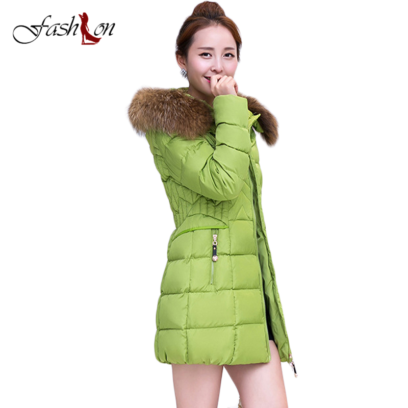 Hot Sale 6XL Fur Hooded Female Winter Parka Jacket Cotton Slim Overcoat Elegant Casual Long Sleeve Women Coat Park 2017Plus Size аксессуар greenconnect 3 5 jack m 3 5 jack f 0 5m gc stm2f 0 5m