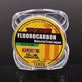 50 m 4,4- LB líneas de pesca de fluorocarbono línea de pesca de alta calidad de fibra de carbono con mosca línea de monofilamento de Color transparente