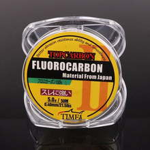 Wholesale line Promotion price High Quality Transparent Coating Carbon Fishing Lines Fluorocarbon 50m fishing lines