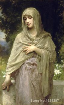 famous portrait painting Modesty by William Adolphe Bouguereau Hand painted High quality