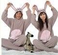 Nuevo Unisex Adulto Animal Precioso Gris Conejo Pijamas Sleepsuit