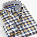 Smart Five Men's Shirts Casual Long Sleeve Cotton Plaid Shirts Long Sleve Slim Fit Brand Shirt Man Size 5XL 6XL