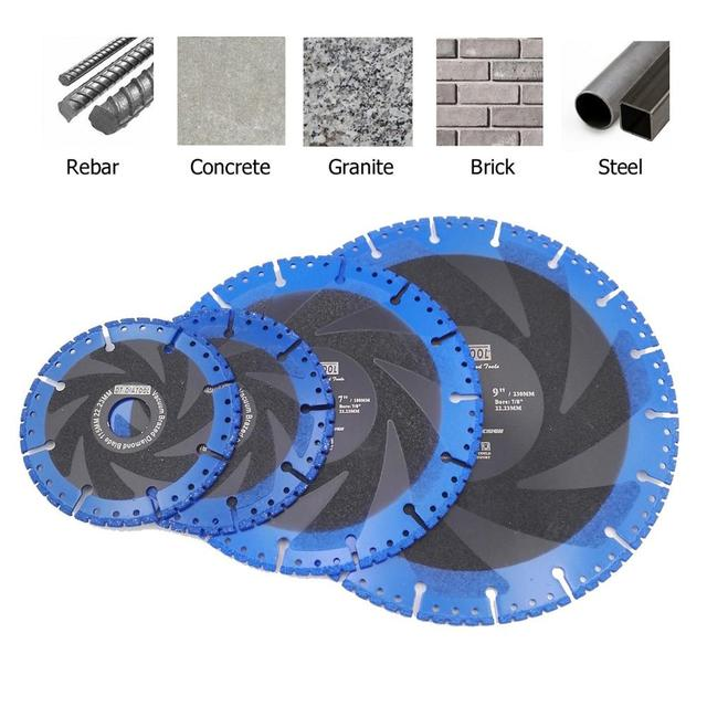 DT-DIATOOL 1 piece Vacuum Brazed Diamond Demolition Saw blade Cutting Disc Multi Purpose Rescue Grinding wheel for hard stone
