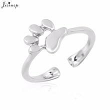 Jisensp, новинка, модное миди кольцо на фаланг пальца, ювелирные изделия в виде животных, кошачья лапа, кольцо для женщин, Открытое кольцо в виде собаки, женский подарок для вечеринки