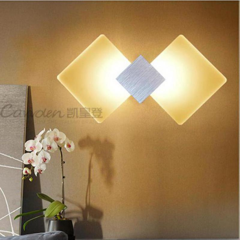 Free shipping mirror 6W LED indoor Wall Lamp Luminaire Acrylic home indoor wall lighting bedroom LED light bedside wall sconce modern t shirt led wall lamp mounted light bedroom bedside sconce acrylic lampshade white painting indoor home lighting