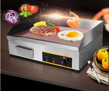 220V 2900W Commercial Electric Frying Oven Iron Plate Burning Equipment Grilled Furnace Steak Party Buffet Christmas No Plug