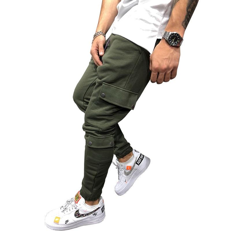 2018 Männlichen Hose Marke Männer Hosen Baumwolle Multi Tasche Harem Jogger Hosen Mens Jogger Feste Hosen Jogginghose M-3xl