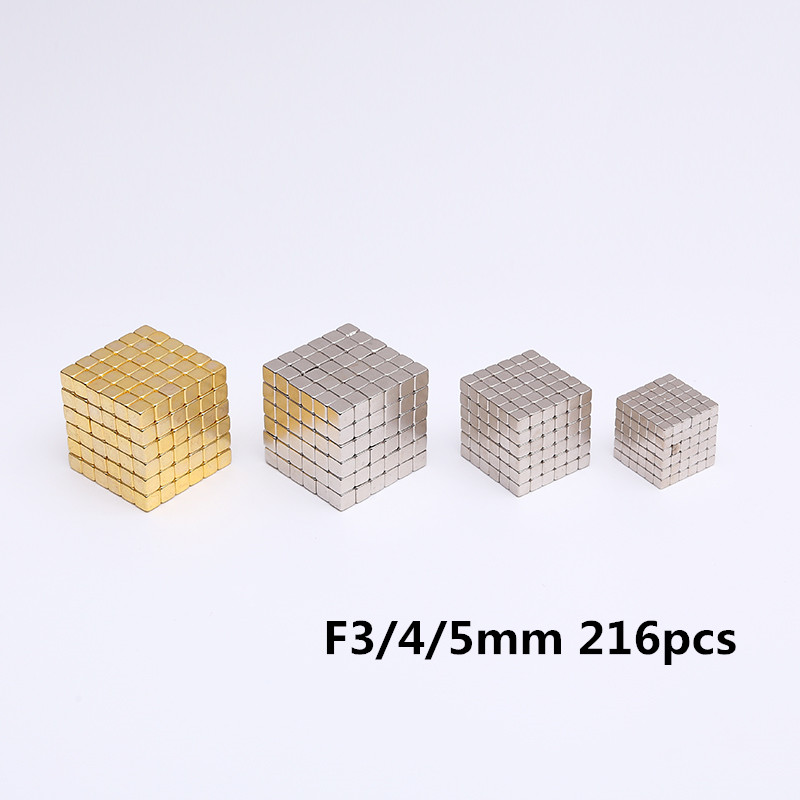 Super Magnet Blocks 3mm 4mm 5mm Magnetic Balls Ndfeb Strong Power Magnets Neo Cube Funny Toys Metal Box Package