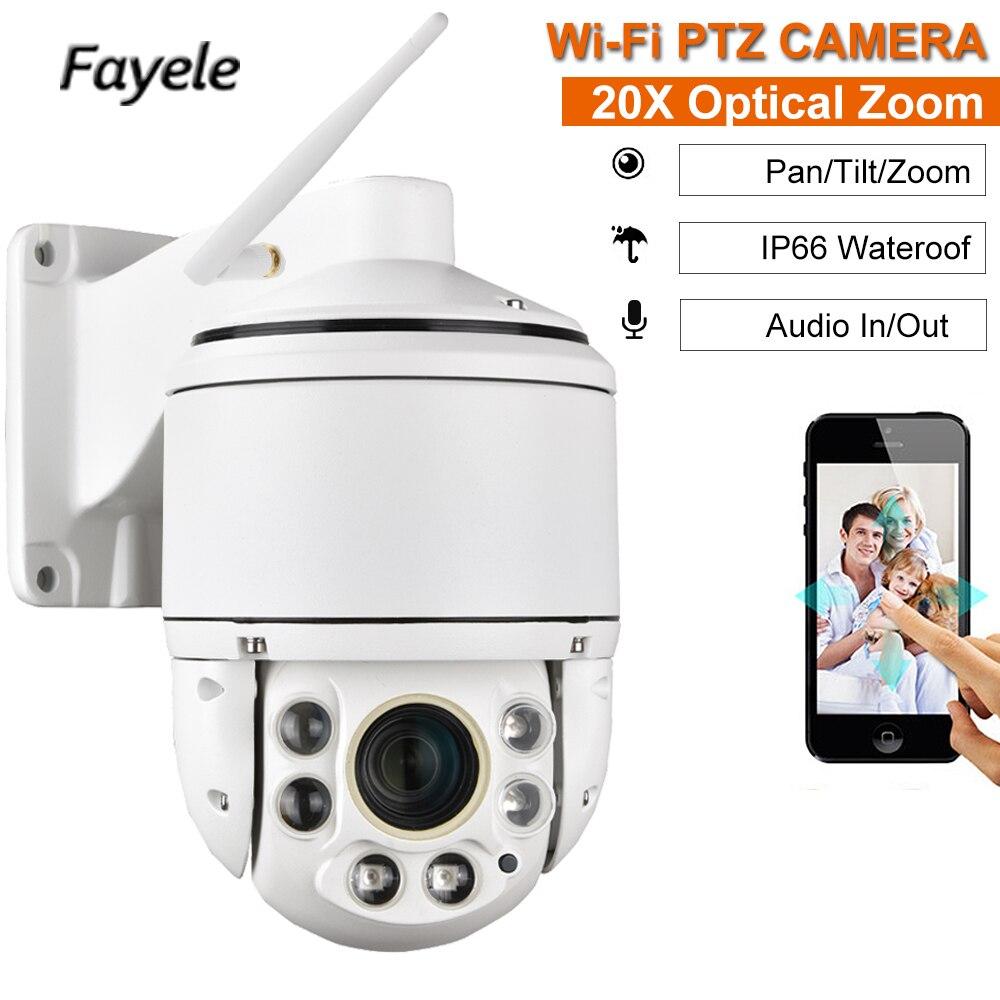 CCTV Sécurité 1080 p Sans Fil WiFi IP Caméra 20X Zoom 4 MINI Speed Dome PTZ Caméra 2MP IR 100 m Audio SD Slot IP66 Extérieure P2P