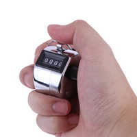 4 Digit Number Hand Held Tally Counter Digital Golf Clicker Manual Training Counting Counter